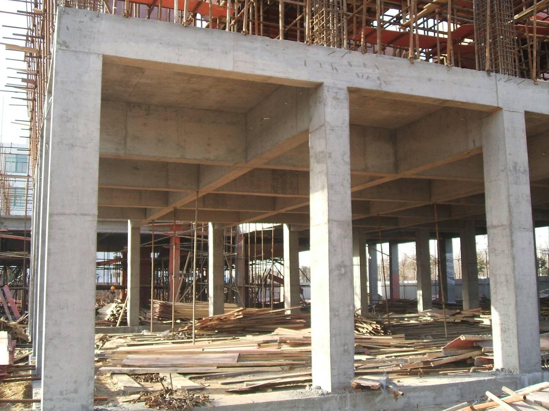 框架结构钢筋照片